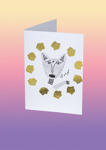 The Native Singing Cats Gift Card in Gold