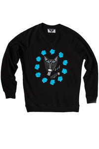 Native Singing Cats Royal Sweatshirt, Cerulean Blue