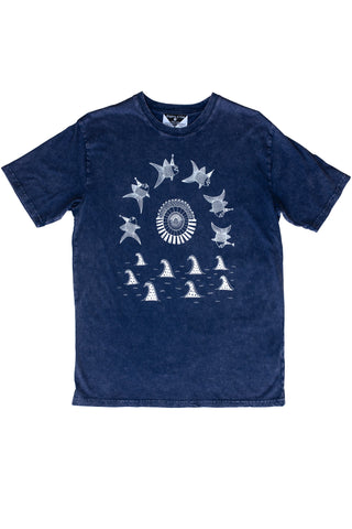 The Pancake Seas & The Wizard Hatted Fish Men's Stonewash Tee