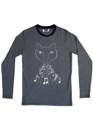 Wolf-Fox Striped Longsleeve Tee