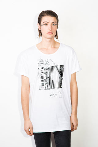 The Accordion of Unexpected Fortunes Men's Low-Neck Tee
