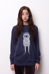 The Birthday Monster Unisex Royal Sweatshirt