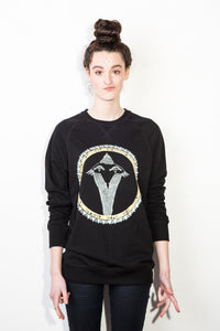 Snakebird Gold Pikeletcycle Gang Women's Sweatshirt / Gold Sequins