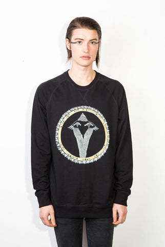 Snakebird Gold Pikeletcycle Gang Royal Sweatshirt