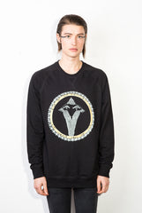 Snakebird Gold Pikeletcycle Gang Men's Royal Sweatshirt