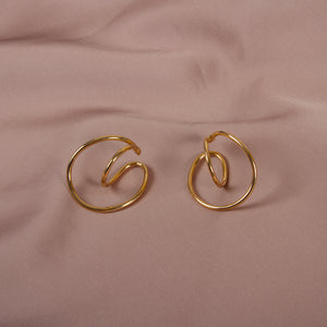 Looped Hoop Earrings