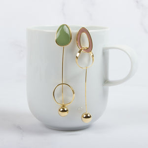 Asymmetric Wild Drop Earrings