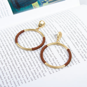 Winding Thread Drop Earrings