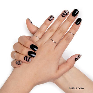 lluillui Gel Nail Sticker - Black Smoke