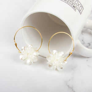 Flower Petal Hoop Earrings