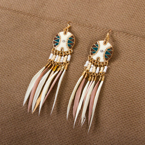Indie Dreamcatcher Drop Earrings