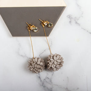 Layered Flower Drop Earrings