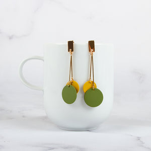 Hanging Disc Drop Earrings