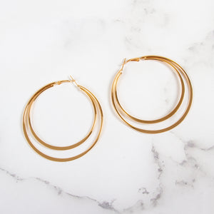 Moon Cutout Hoop Earrings