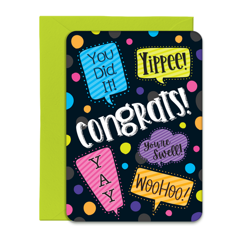 Congrats Greeting Card - 5x7 Post Card with Envelope