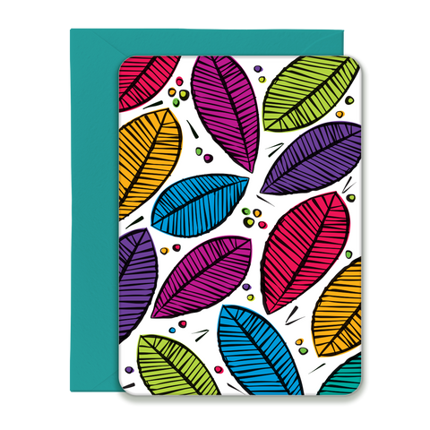 Tropical Leaves Pattern Greeting Card - 5x7 Post Card with Envelope