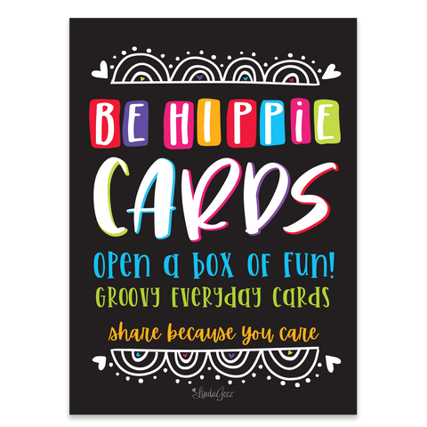 Be Hippie Greeting Card  Box Set - 5x7 Post Card Box Set