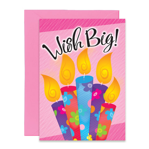 Wish Big Groovy Candles | Birthday Greeting Card | Everyday Greeting Card