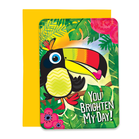 You Brighten My Day Greeting Card - 5x7 Post Card with Envelope