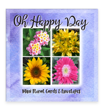 Oh Happy Day Garden Party Blooms Assorted Set of Mini Greeting Cards