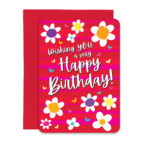 Groovy Birthday Greeting Card - 5x7 Post Card with Envelope