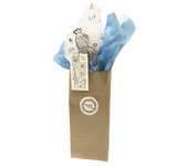 Bottle Gift Bag Ensemble with Wildflower Printed Tissue Paper