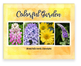 Colorful Garden A2 Greeting Card Assorted Lupine, Hyacinth, Mum, Veronica Flowers