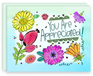 A2 Note Card with Blank Interior with Envelope You Are Appreciated