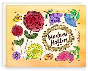 A2 Note Card with Blank Interior with Envelope Kindness Matters