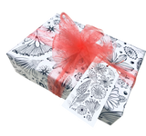 LindaGeez Wildflower Printed Tissue Paper Gift Package