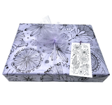 LindaGeez Gift Box with Wildflower and Lavender Tissue Paper