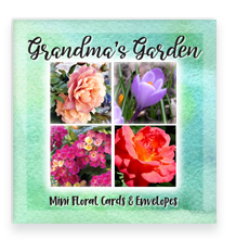 Grandma's Garden Party Blooms Mini Greeting Cards Most Loved Garden Flowers Assorted Set