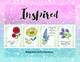 Most love Inspirational quote on these Inspired Note Cards Collection Assortment with Blank Inside
