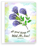 All Good Things are Wild and Free Inspirational Quote Note Card with Blank Inside Assortment