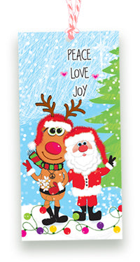 Peace Love Joy Christmas Gift Tags