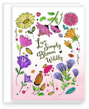 Live Simply, Bloom Wildly Inspirational Note Card Assorted Set
