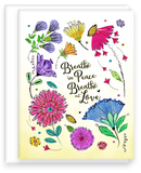 Breathe in Peace, Breathe out Love Inspirational Note Card Assorted Set