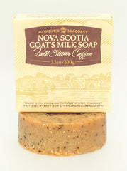 Authentic Seacoast Nova Scotia Goat's Milk Soap - Full Steam Coffee