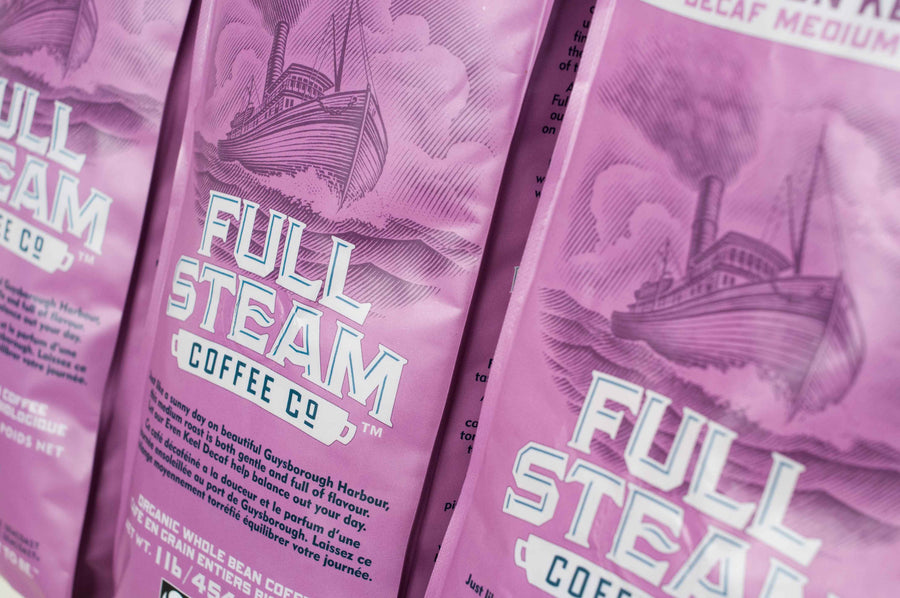 Full Steam Even Keel Decaf Medium Roast Coffee (Whole Bean)