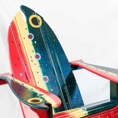 Speckled Trout Fish Folk Art Chair