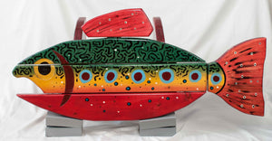 Speckled Trout Folk Art Table