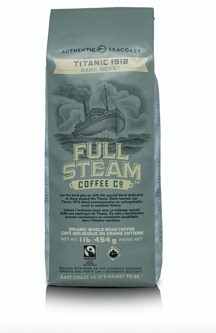 Full Steam Titanic 1912 Dark Roast Whole Bean Coffee