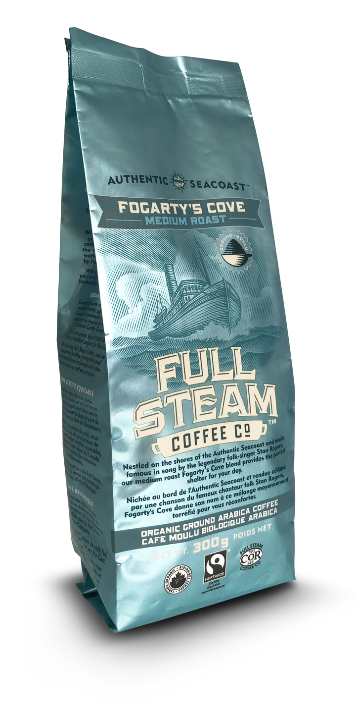 Full Steam Ground Coffee, Fogarty's Cove Medium Roast