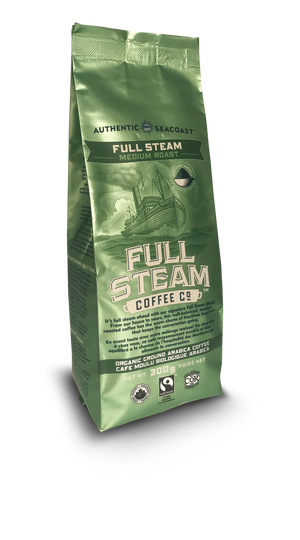 Full Steam Ground Coffee, Full Steam Medium Roast
