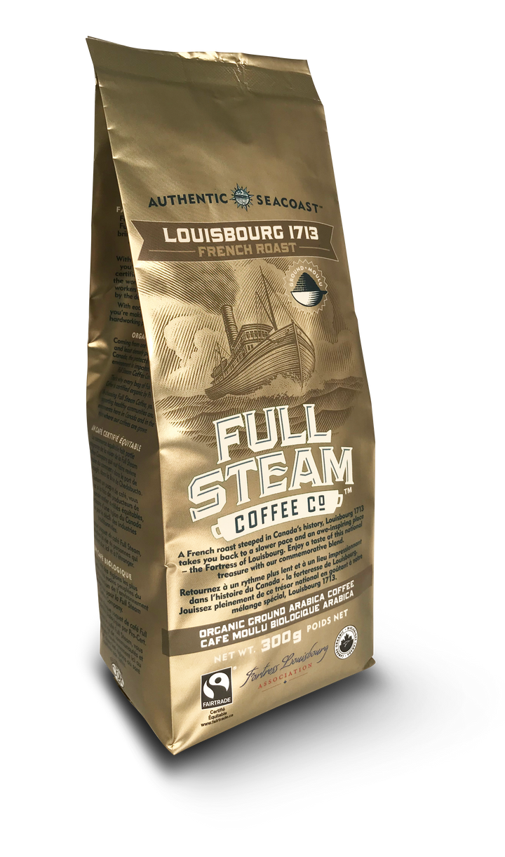 Full Steam Ground Coffee, Louisbourg 1713 French Roast