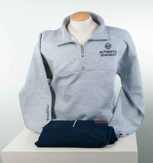 Authentic Seacoast Zip-Neck Sweatshirt