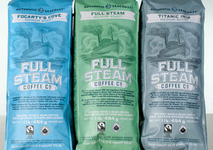 Full Steam Fogarty's Cove Medium Roast Coffee (Whole Bean)