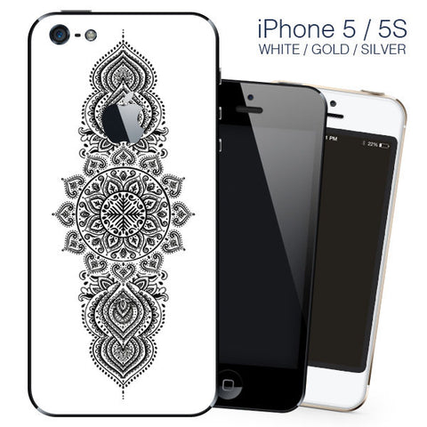 New Black Mandala Design - vinyl skin cover for iphone 5, 5s,SE self adhesive