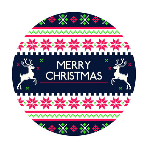 Merry Christmas Vintage Retro Vinyl Sticker, Phone Sticker, Laptop Decal, Window - Influent UK