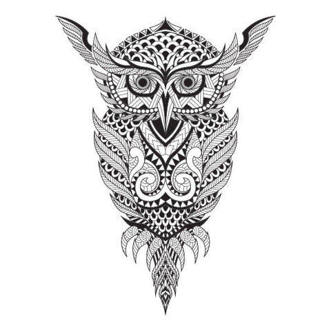 New Owl Animal Mandala Design Sticker Decor Car, Fridge, Laptop, Wall Art Decal